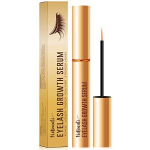 Premium Eyelash Growth Serum and Eyebrow Enhancer by VieBeauti, Lash boost Serum for Longer, Fuller Thicker Lashes & Brows (3ML) (Gold)