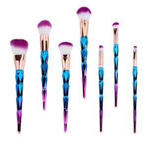 Premium Synthetic Makeup Brushes 7 Pieces Set, Everfavor Professional Foundation Powder Blending Blush Eyeshadow Face Makeup Brushes Cosmetic Kit (Unicorn)