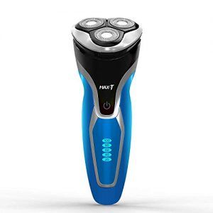 Electric Shaver Razor for Men, MAX-T Quick Charge Wet Dry Rotary Shaver with Pop Up Trimmer, IPX7 100% Waterproof (7109 with Adapter Charger)