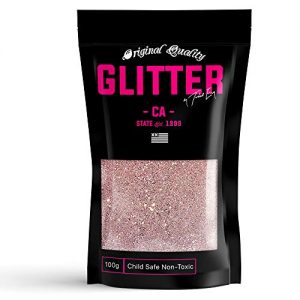 Rose Gold Premium Glitter Multi Purpose Dust Powder 100g / 3.5oz for use with Arts & Crafts Wine Glass Decoration Weddings Cards Flowers Cosmetic Face Body (Packaging May Vary)
