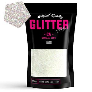 Clear Iris Premium Glitter Multi Purpose Dust Powder 100g / 3.5oz for use with Arts & Crafts Wine Glass Decoration Weddings Cards Flowers Cosmetic Face Body (Packaging May Vary)