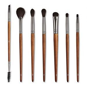7pcs Professional Makeup Brushes Set Wood Handle Premium Synthetic Eyes Make Up Brush Kit for Women Girls Travel Face Beauty Eyeshadow Cruelty Free
