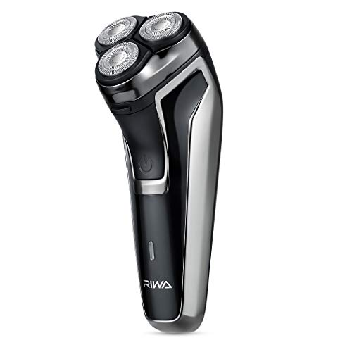 RIWA Electric Shaver for Men, Electric Razors with Pop-up Beard Trimmer Men's Face 3D Groomer USB Rechargeable, Fast-Charging Cordless Shavers with 5 Watts Ultra Powerful Motor for Dense Beard