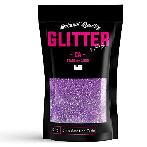 Purple Rainbow Premium Glitter Multi Purpose Dust Powder 100g / 3.5oz for use with Arts & Crafts Wine Glass Decoration Weddings Cards Flowers Cosmetic Face Body (Packaging May Vary)