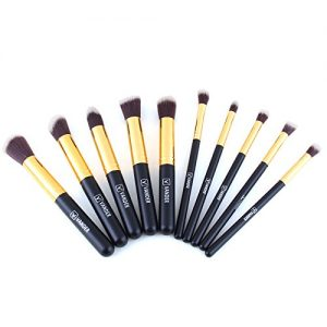 Vander 10 Pcs Makeup Brushes Premium Makeup Brush Set Foundation Brush Eyeliner Blush Contour Brushes Eye Shadow Brush for Powder Cream Concealer Brush Kit