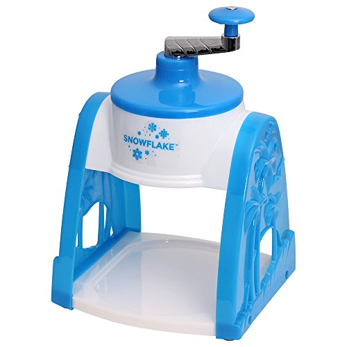Time for Treats SnowFlake Snow Cone Maker, Small, white and blue