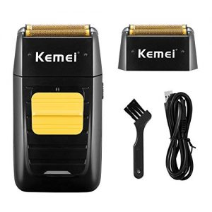 KEMEI Professional Electric Razor for Men Electric Foil Shaver Foil Lithium Titanium Foil Shaver Beard Trimmer Cordless/Rechargeable
