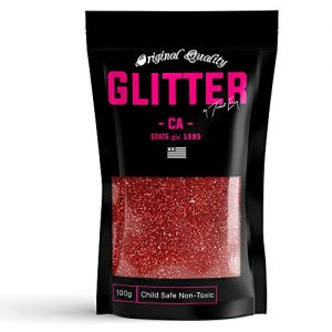 Red Holographic Premium Glitter Multi Purpose Dust Powder 100g / 3.5oz for use with Arts & Crafts Wine Glass Decoration Weddings Cards Flowers Cosmetic Face Body Nails (Packaging May Vary)