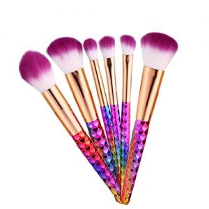 Makeup Brushes, 6PCS/Set,Premium Cosmetic Brushes Colorful Make Up Brush Kits Foundation Blending Blush Concealer Eye Shadow Face Powder Brush Make Up Brushes Set