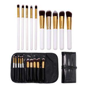 Makeup Brush set, 10 Pcs Premium Makeup Brushes Foundation Brush Eyeliner Blush Contour Brushes Eye Shadow Brush for Powder Cream Concealer Brush Kit