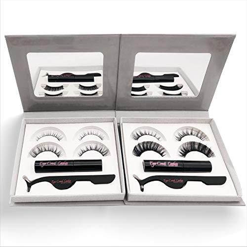 Eyeconik Magnetic Eyelashes with Magnetic Eyeliner Kit 100% Premium Mink Eyelash Material for 3D Volume No More Glue on Lashes Strong 24hr Magnetic Hold (Diva)