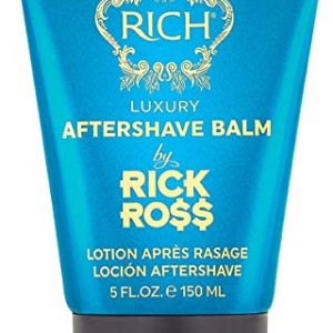 RICH by Rick Ross Luxury Aftershave Balm for Men with All Skin Types - Premium Aftershave Lotion - Soothes, Moisturizes & Calms Face to Prevent Razor Burns, 5 Fluid Ounces