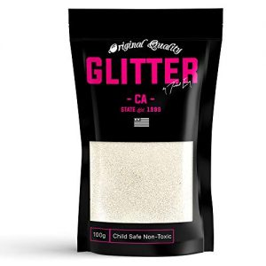 Snow White Premium Glitter Multi Purpose Dust Powder 100g / 3.5oz for use with Arts & Crafts Wine Glass Decoration Weddings Cards Flowers Cosmetic Face Body (Packaging May Vary)