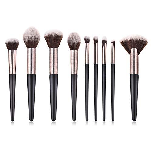 Make Up Brushes,Professional 9Pcs Premium Synthetic Makeup Brushes Cosmetics for Foundation Kabuki Blush Eyeshadow Concealer Brushes set
