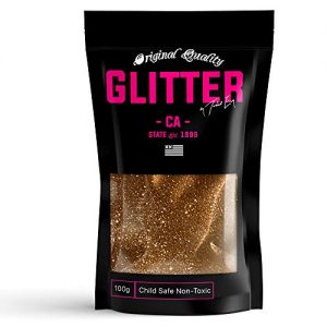Dark Gold Premium Glitter Multi Purpose Dust Powder 100g / 3.5oz for use with Arts & Crafts Wine Glass Decoration Weddings Cards Flowers Cosmetic Face Body (Packaging May Vary)