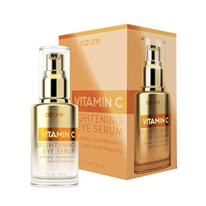 AZURE Vitamin C Brightening Eye Serum - Moisturizing, Anti Aging & Refreshing | Reduces Wrinkles, Fine Lines & Under Eye Bags | Minimizes Puffiness & Dark Circles | Made in Korea - 30mL