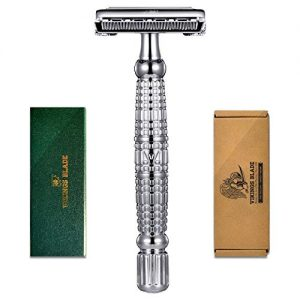 VIKINGS BLADE The Vulcan Long Handle Double Edge Safety Razor (Neutrally Aggressive)