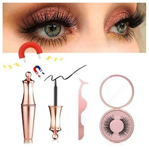 Longer Five Magnetic Eyelashes [No Glue] Premium Quality False Eyelashes with Eyeliner Set for Natural Look