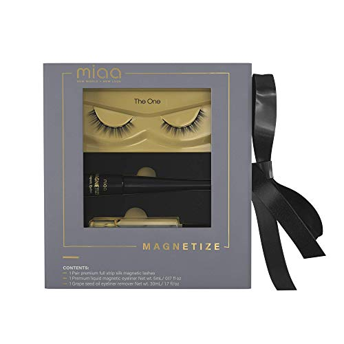 MIAA Beauty Magnetic False Eyelash Kit – Premium Reusable Magnetic Lashes with Eyeliner Remover – Glue-Free Magnetic False Eyelashes with Magnetic Eyeliner – Super Easy Application & Removal