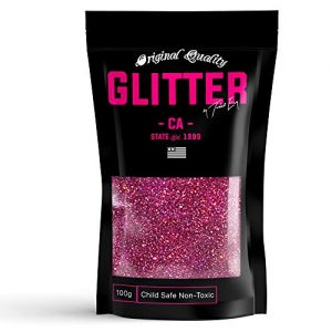 Fuchsia Pink Holographic Premium Glitter Multi Purpose Dust Powder 100g / 3.5oz for use with Arts & Crafts Wine Glass Decoration Weddings Cards Flowers Cosmetic Face Body (Packaging May Vary)