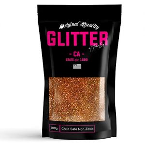 Copper Holographic Premium Glitter Multi Purpose Dust Powder 100g / 3.5oz for use with Arts & Crafts Wine Glass Decoration Weddings Cards Flowers Cosmetic Face Body (Packaging May Vary)