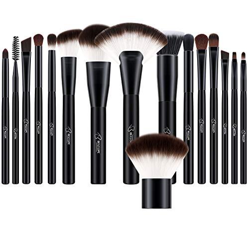BESTOPE Makeup Brushes Set 16 PCs Cosmetic Blush Brushes Premium Synthetic for Foundation Blending Powder Concealers Eye Shadows Brushes Kit