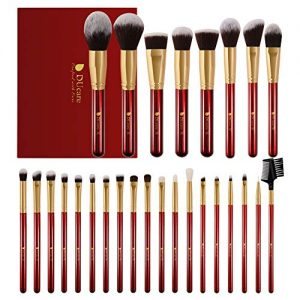 DUcare Makeup Brushes 27Pcs Professional Makeup Brush Set Premium Synthetic Goat Pony Hair Kabuki Foundation Blending Brush Face Powder Blush Concealers Eye Shadows Make Up Brushes Kit