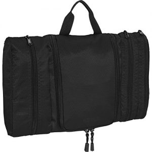 eBags Pack-it-Flat Hanging Toiletry Kit for Travel - (Black)