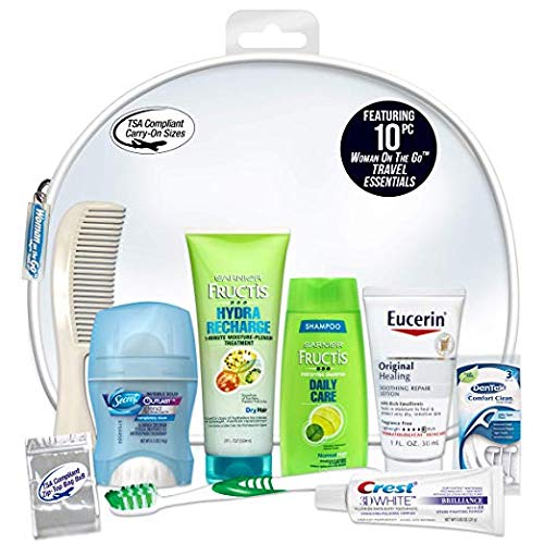 Convenience Kits Women's Deluxe 10-Piece Travel Kit, Featuring: Fructis Hair Products