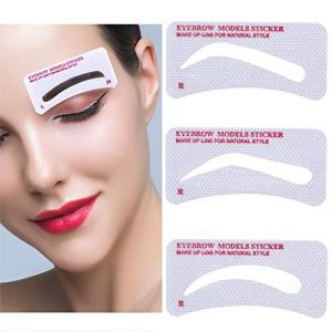 EBANKU 96Pcs Eyebrow Shaping Stencils, 24 Styles Non-Woven Quick Makeup Eyebrow Stencils, Easy Eyebrow Stencil Eyebrow Template Stickers Easy Eyebrow Grooming Styling