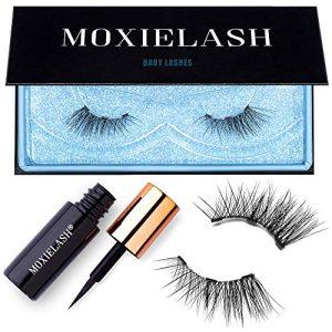 MoxieLash Baby Kit - Mini Magnetic Liquid Eyeliner for Magnetic Eyelashes - No Glue & Mess Free - Fast & Easy Application - Set of Baby Lashes & Instructions Included