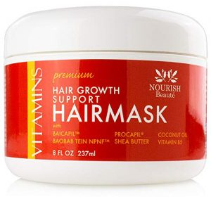 Nourish Beaute Premium Hair Mask for Hair Loss and Deep Conditioning to Promote Hydration and Regrowth on Dry Damaged Hair for Men and Women, 8 Ounces