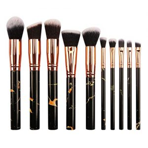 Makekup Brushes Premium Cosmetic Set for Foundation Blending Blush Concealer Eye Shadow-Black