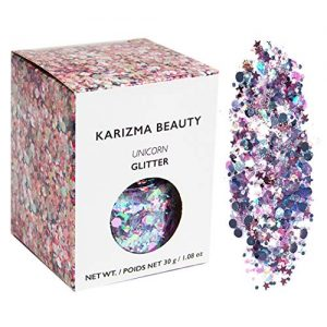 Unicorn Chunky Glitter ✮ Large 30g Jar KARIZMA Beauty ✮ Festival Glitter Cosmetic Face Body Hair Nails
