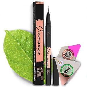 Premium Black Eyeliner with Precise Micro-Tip [Easy to Use], Waterproof, Smudgeproof - Free of Oil, Paraben & Cruelty. Long Lasting (12 Hour Wear), Lash Extensions & Falsies Safe