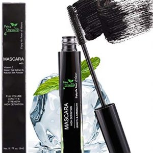 Mascara Waterproof Black - Voluminous Mascara - Fiber Mascara - Silk Mascara - Black Mascara for Sensitive Eyes - Natural Waterproof Mascara - Cruelty Free Mascara