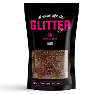 Coffee Holographic Premium Glitter Multi Purpose Dust Powder 100g / 3.5oz for use with Arts & Crafts Wine Glass Decoration Weddings Cards Flowers Cosmetic Face Body Nails (Packaging May Vary)