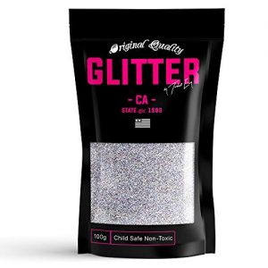Silver Premium Glitter Multi Purpose Dust Powder 100g / 3.5oz for use with Arts & Crafts Wine Glass Decoration Weddings Cards Flowers Cosmetic Face Eye Body (Packaging May Vary)