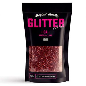 RED Premium Glitter Multi Purpose Dust Powder 100g / 3.5oz for use with Arts & Crafts Wine Glass Decoration Weddings Cards Flowers Cosmetic Face Body (Packaging May Vary)