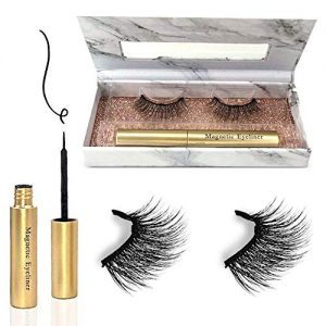 Magnetic Eyelashes with Eyeliner, Magnetic Eyeliner and Lashes, Magnetic Eyeliner and Lashes kit, Magnetic Eyelashes Natural Look Premium False Magnetic Lashes, Eyelashes Magnetic Easy to use