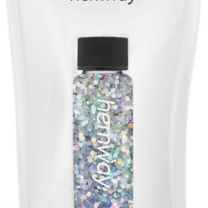 "Hemway Glitter Tube 12.8g / 0.45oz Extra Chunky 1/24"" 0.04"" 1MM Premium Sparkle Gel Nail Dust Art Powder Makeup Pigment Eyeshadow Face Body Eye Cosmetic Safe-(Silver Holographic)"