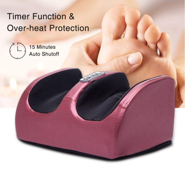 Electric Shiatsu Foot Massager Leg Machine Infrared Heat Deep