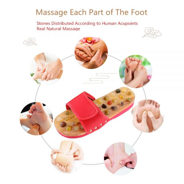 Pebble Stone Foot Massage Slippers