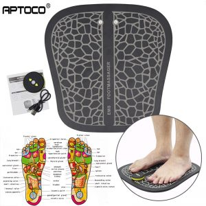 Rechargeable Electric EMS Foot Massager Feet Muscle Stimulator