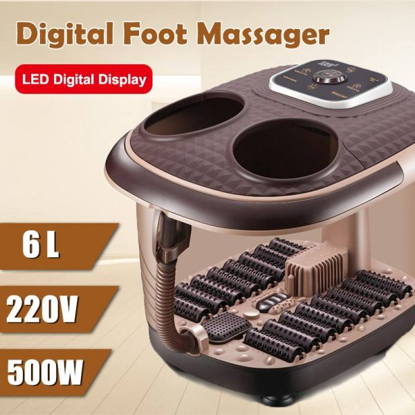 220V Electric Foot Spa Bath Massager Rolling Vibration Heat