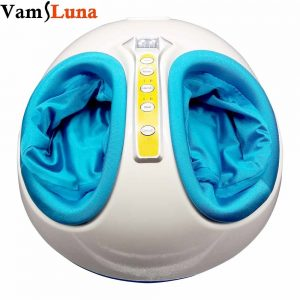 Brand Name: VamsLunaItem Type: Massage & RelaxationMaterial: Cotton, ABSApplication: FootModel Number: FM-028Gross Weight: 4.4KGSize: 42*36*23CMAutomatic timer: 15 minutesPower Wattage: 50WColor: BlueFunction: Relieves muscle tension soothe tired leg & improve circulation