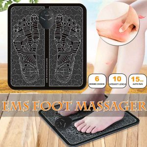 Electric EMS Foot Massager TENS massage Acupuncture Feet