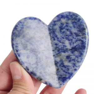 Natural Sodalite Gua Sha Massage Stone Acupuncture Scraper